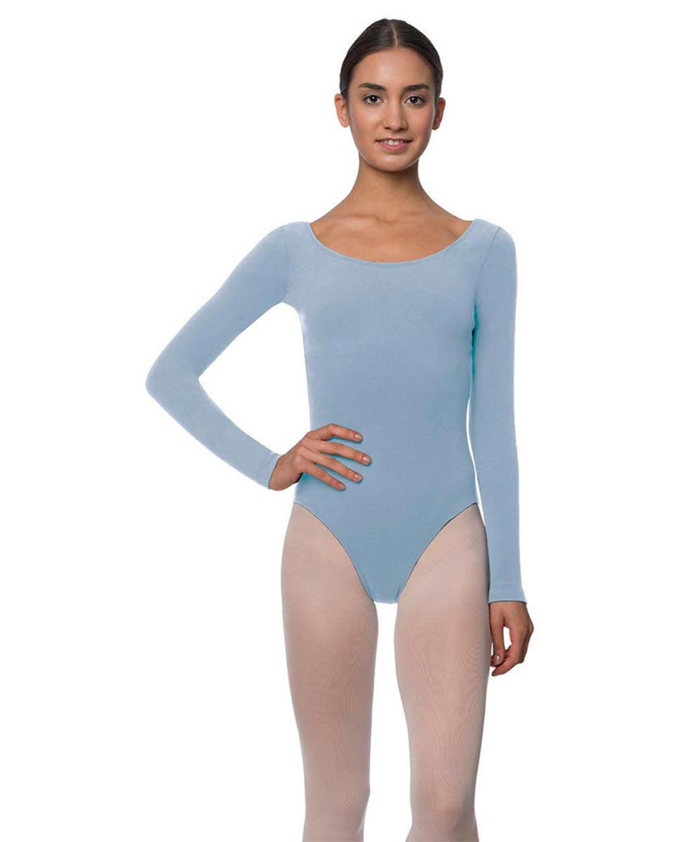 Long Sleeve Cotton Ballet Leotard Liv SKY