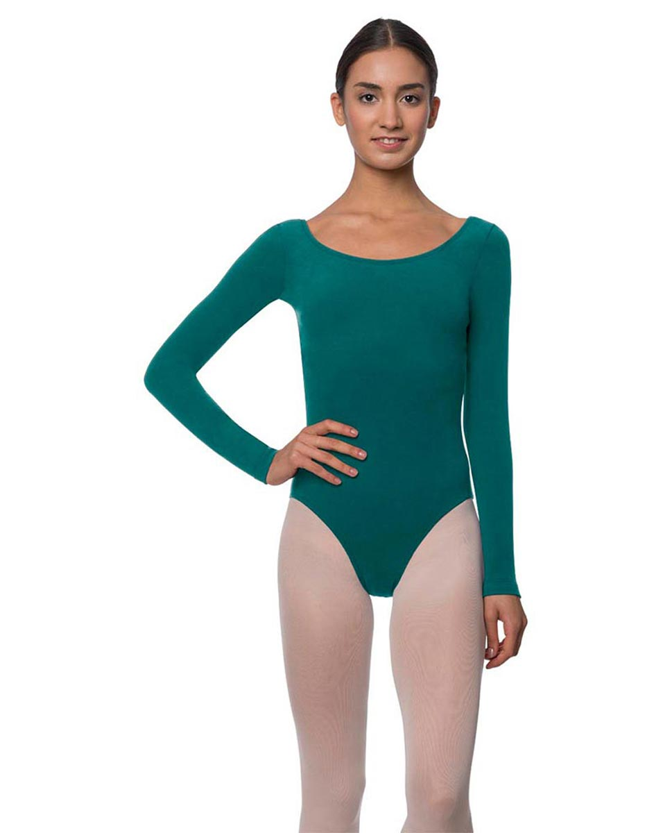 Long Sleeve Cotton Ballet Leotard Liv TEA
