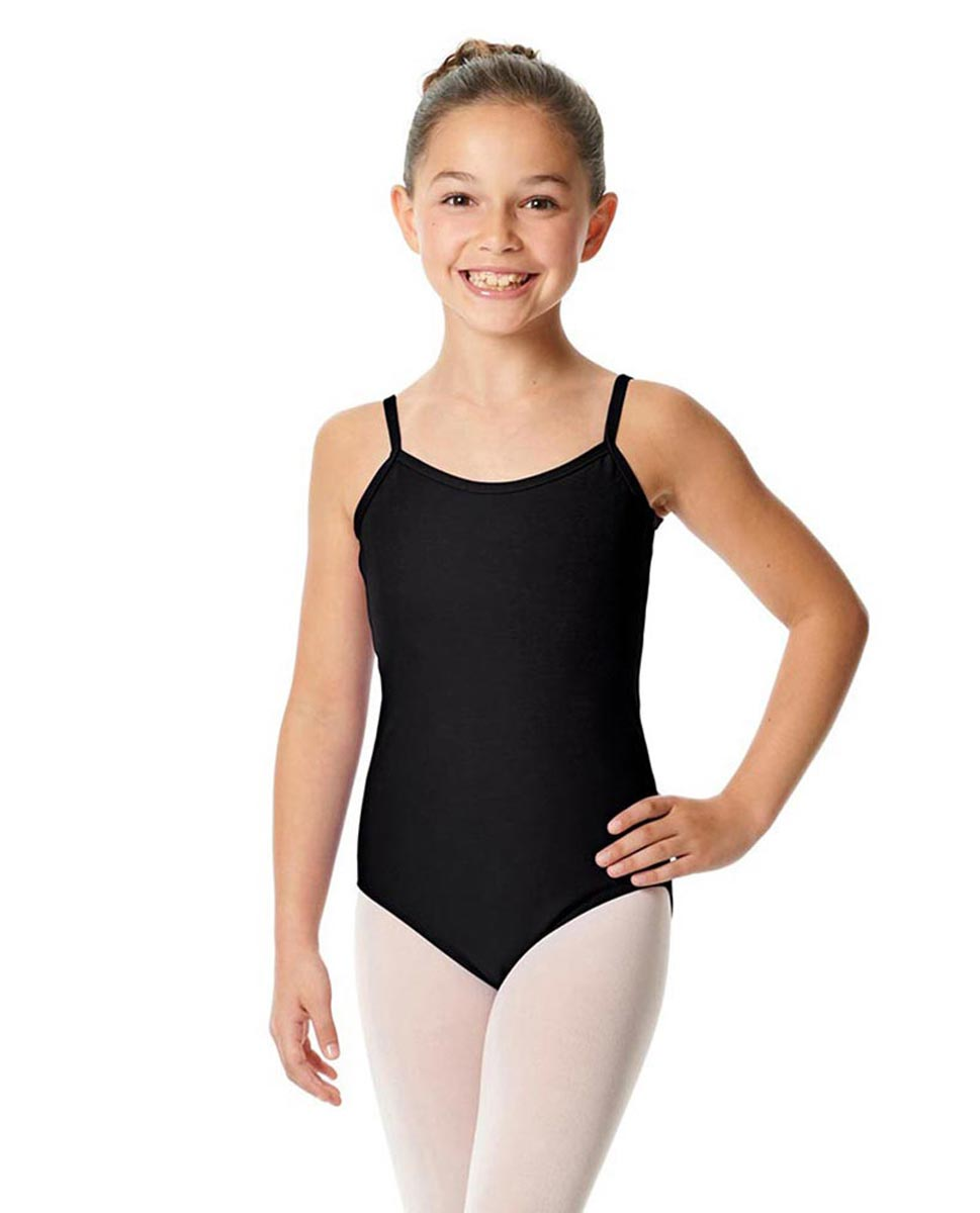 Girls Camisole Cotton Ballet Leotard Lily BLK