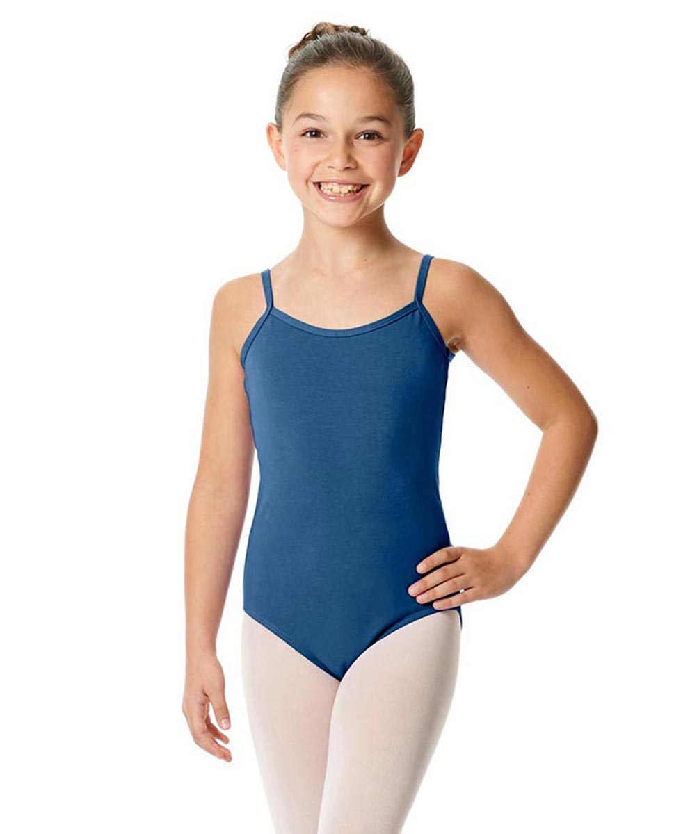 Girls Camisole Cotton Ballet Leotard Lily BLUE