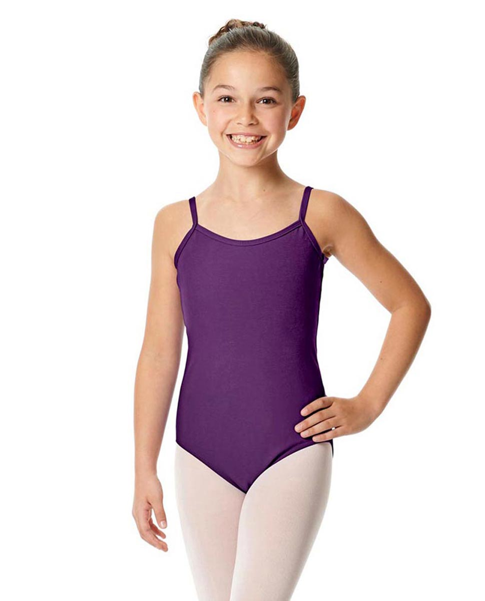 Girls Camisole Cotton Ballet Leotard Lily GRAP