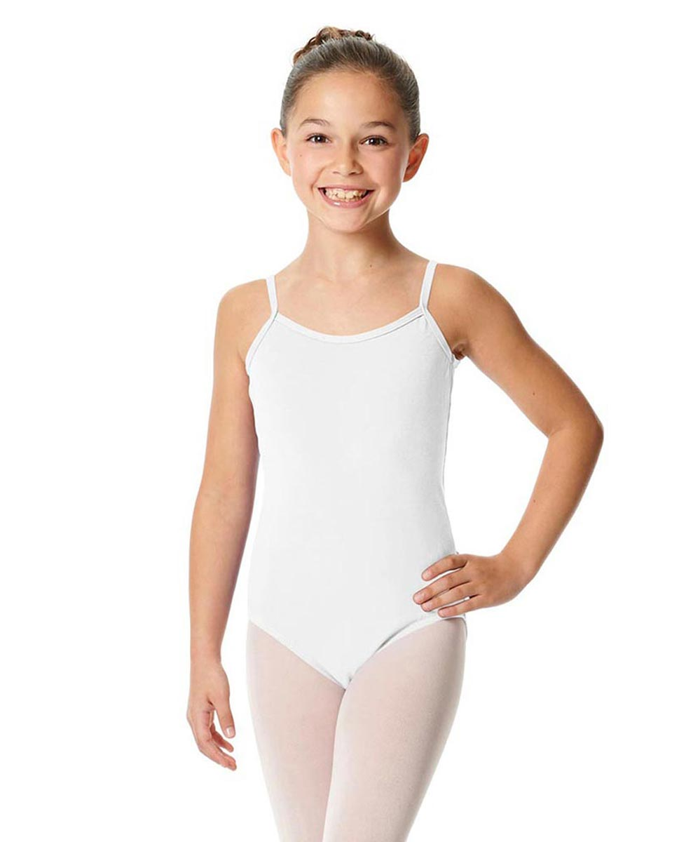 Girls Camisole Cotton Ballet Leotard Lily WHI