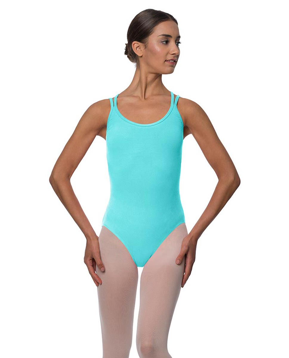 Double Strap Camisole Cotton Dance Leotard Yvette AQU