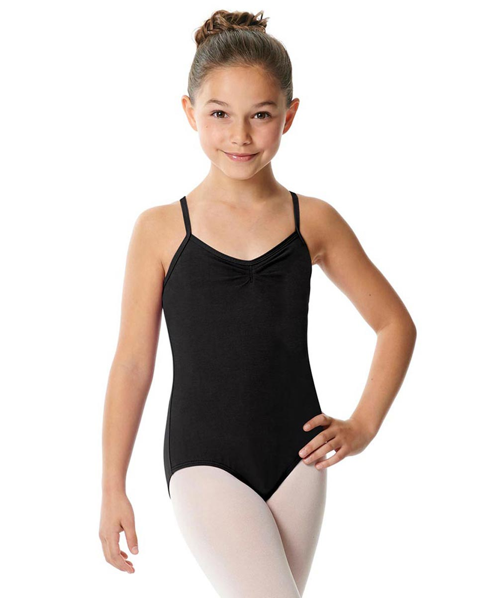 Girls Cotton Camisole Dance Leotard Nell BLK