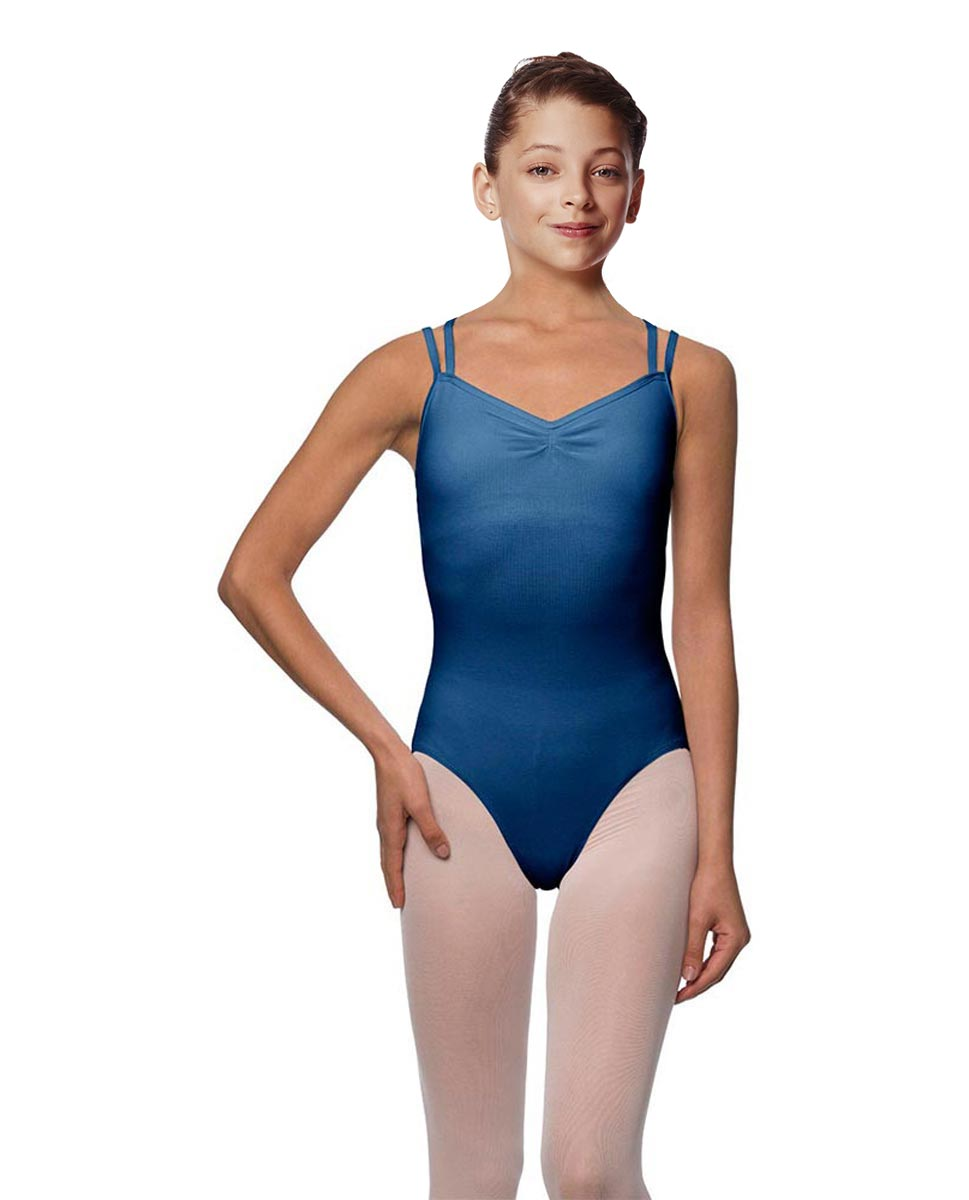 Girls Camisole Brushed Cotton Leotard Lora BLUE