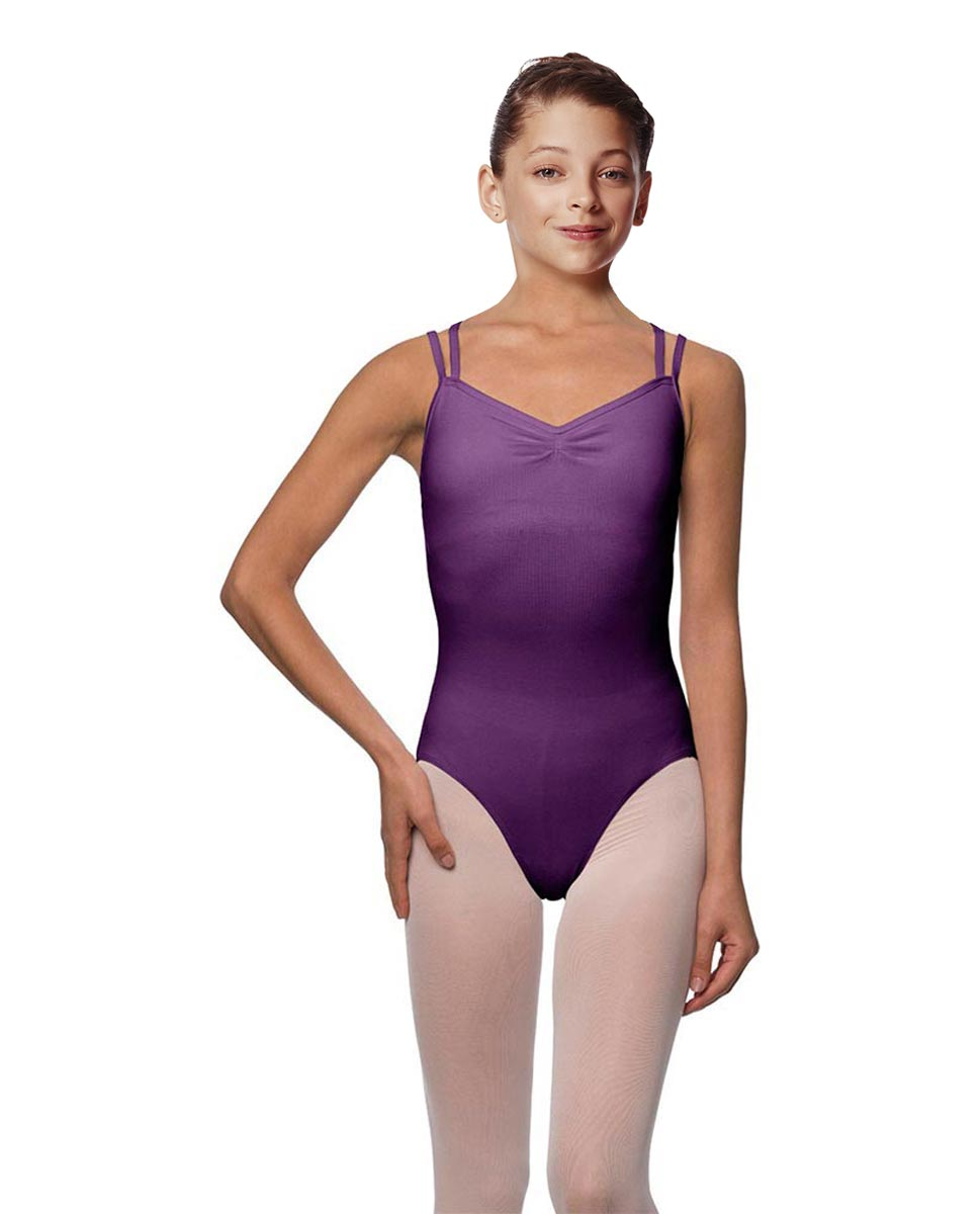 Girls Camisole Brushed Cotton Leotard Lora GRAP