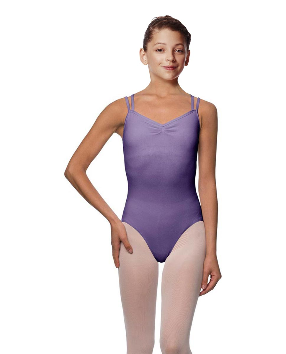 Girls Camisole Brushed Cotton Leotard Lora LAV