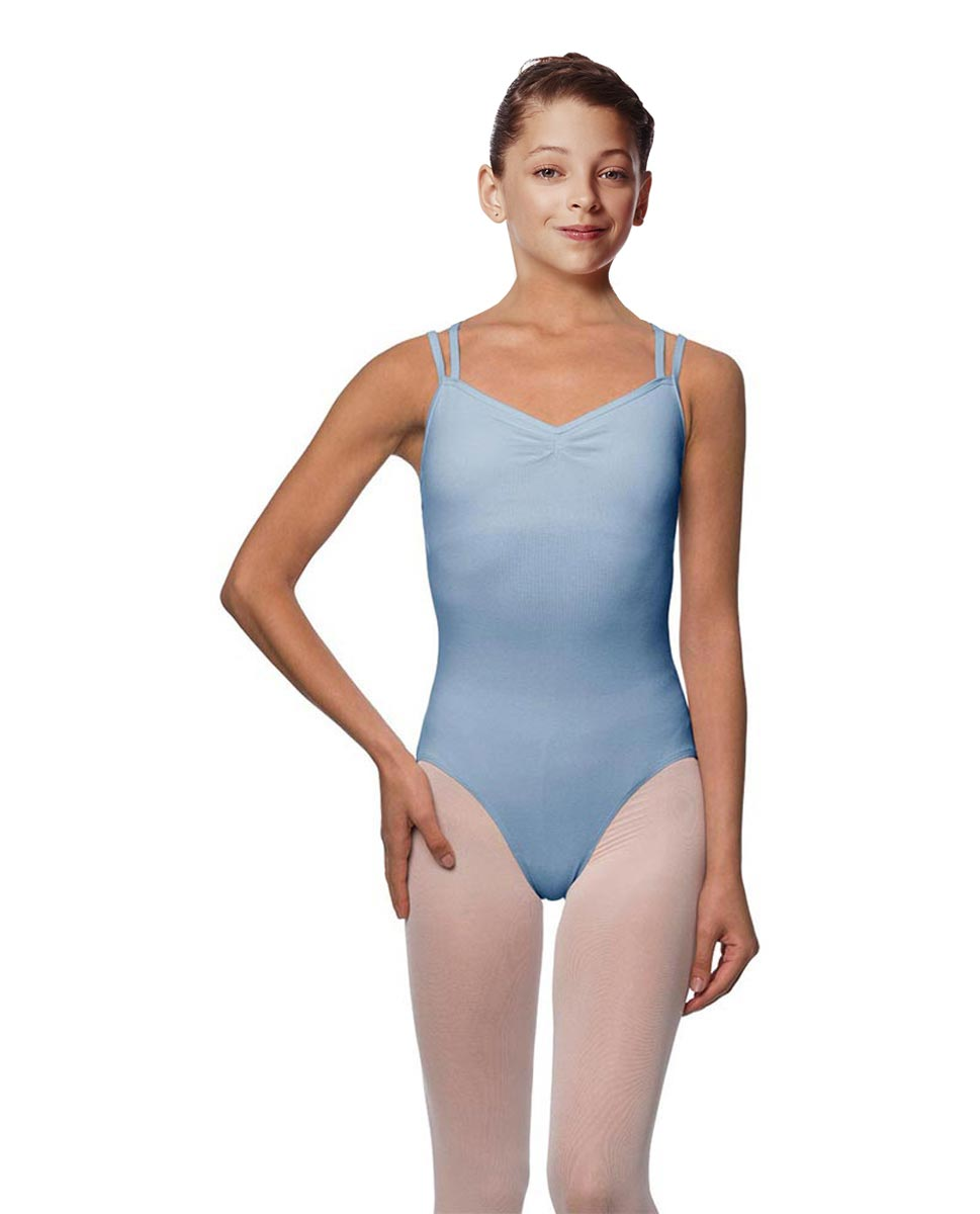 Girls Camisole Brushed Cotton Leotard Lora SKY