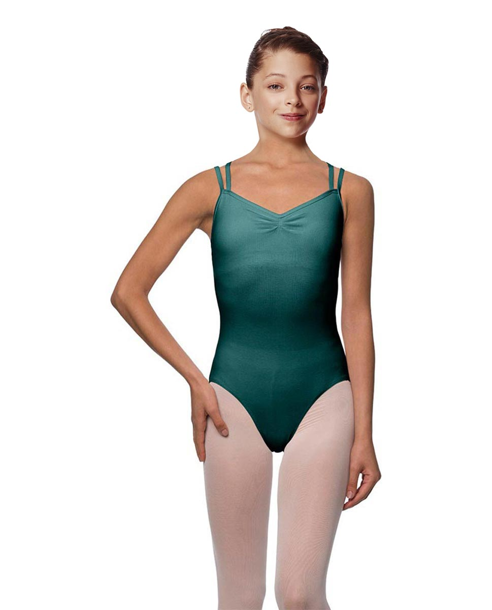 Girls Camisole Brushed Cotton Leotard Lora TEA