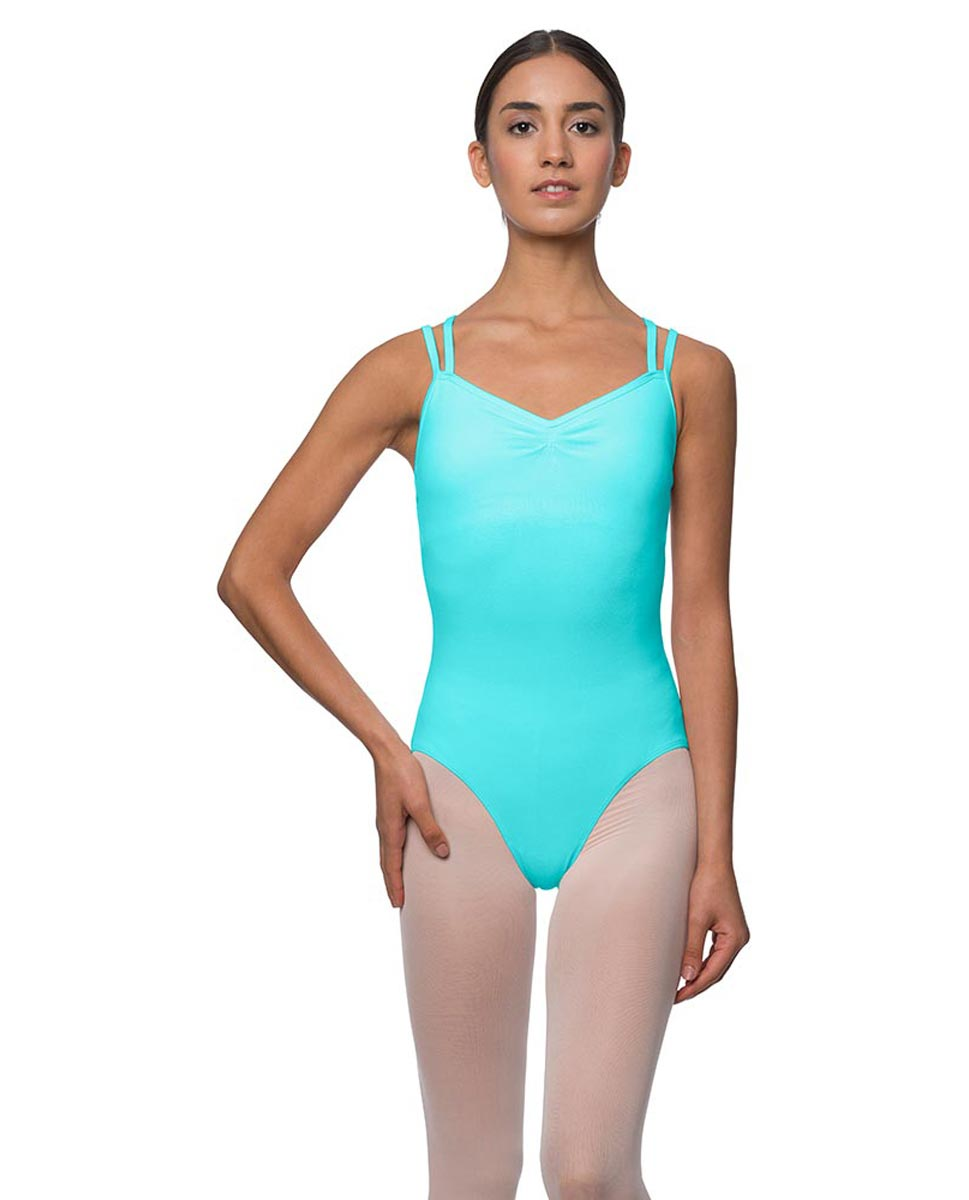 Camisole Crisscross Cotton Dance Leotard Lara AQU