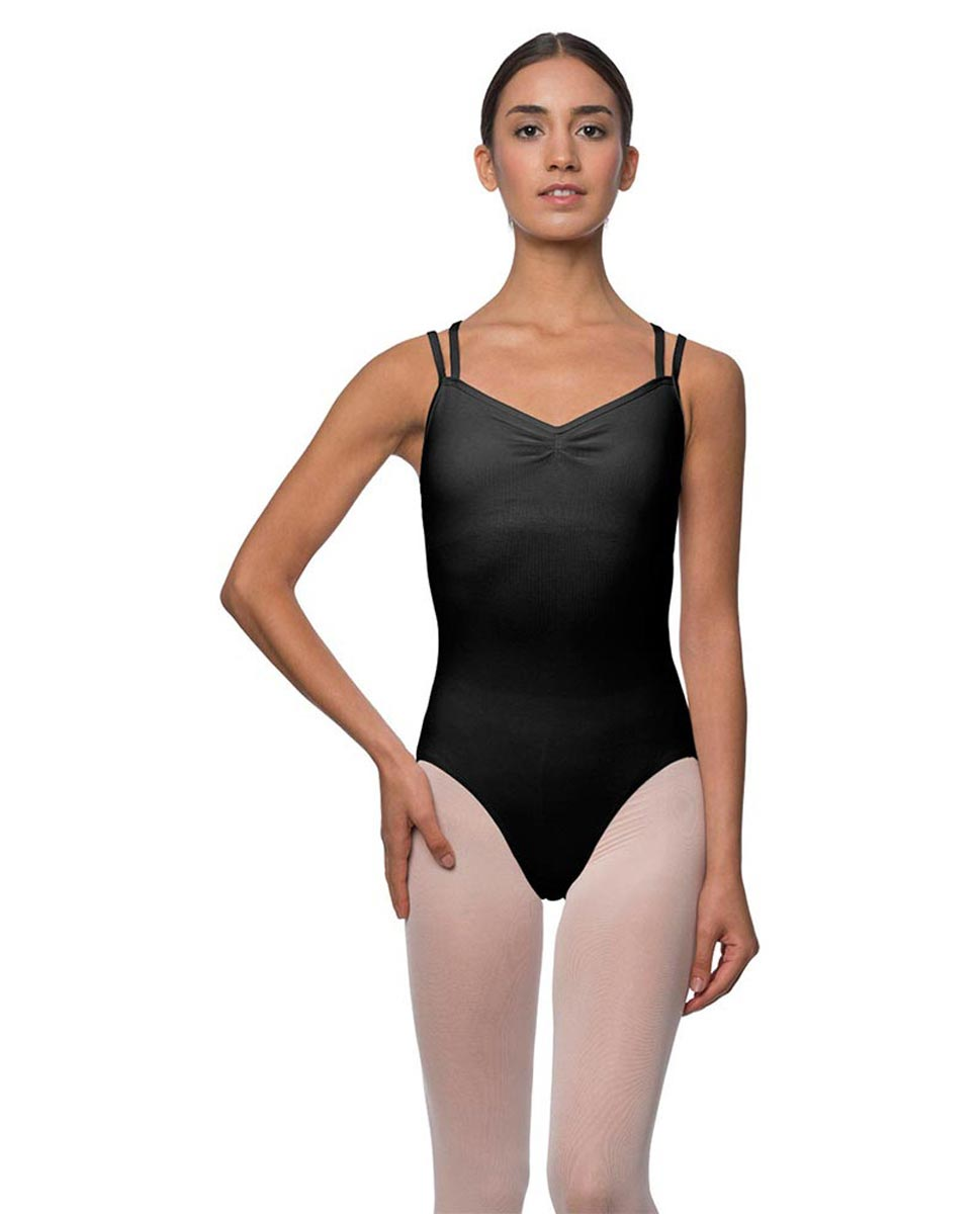 Camisole Crisscross Cotton Dance Leotard Lara BLK