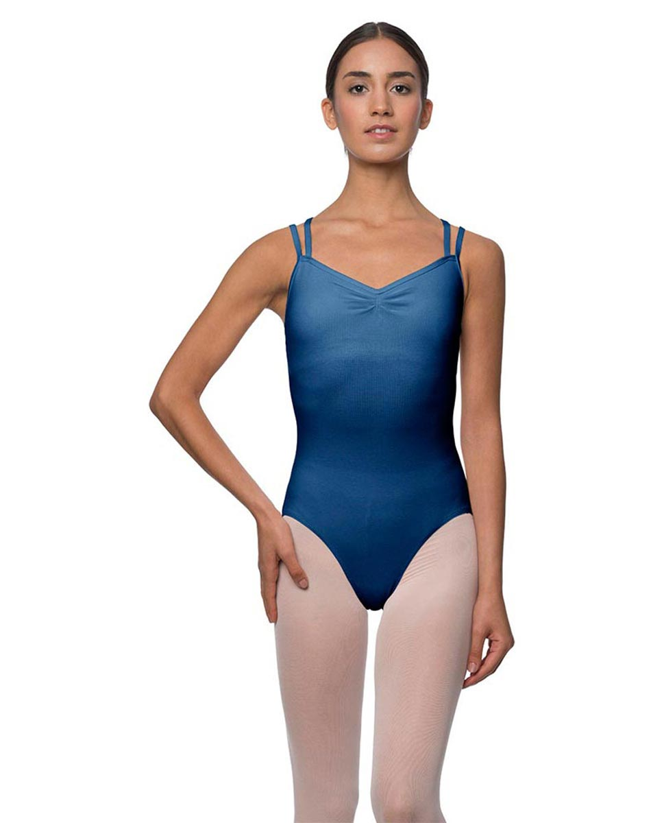 Camisole Crisscross Cotton Dance Leotard Lara BLUE