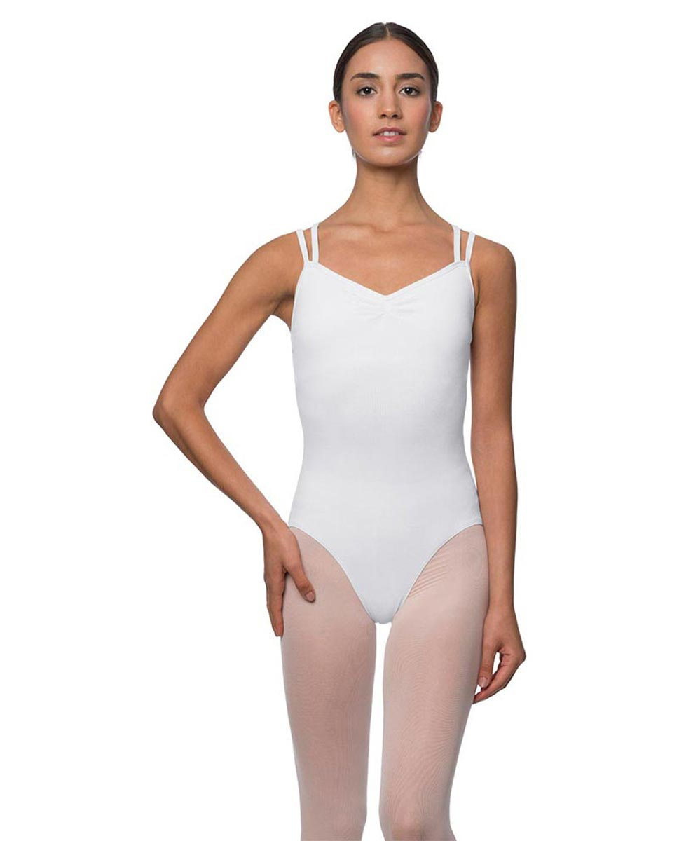 Camisole Crisscross Cotton Dance Leotard Lara WHI