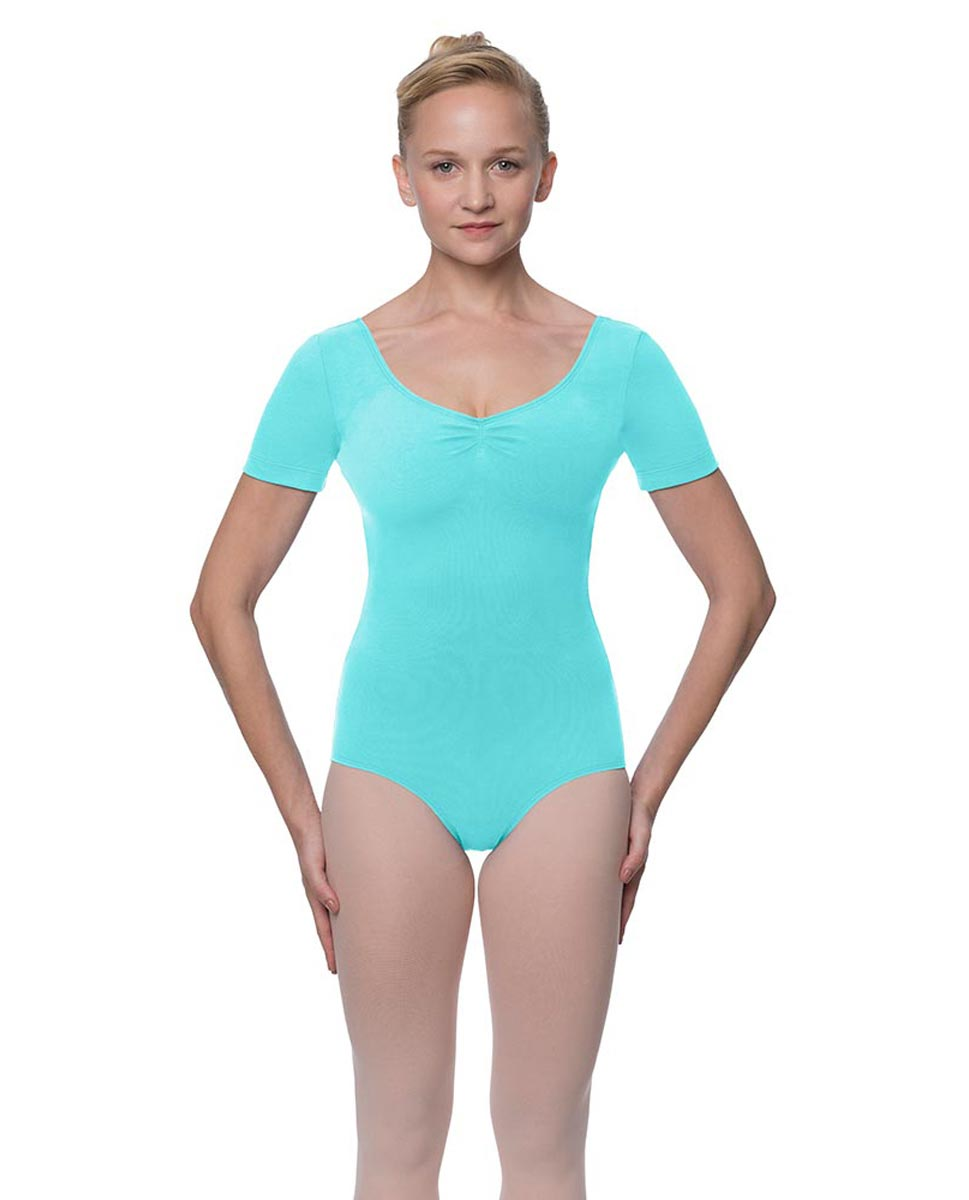 Short Sleeve Cotton Dance Leotard Mckenzie AQU