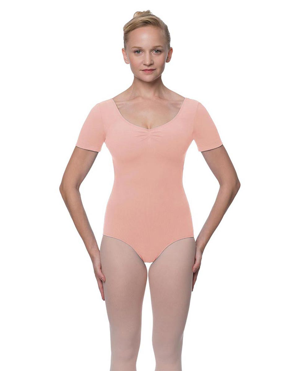 Short Sleeve Cotton Dance Leotard Mckenzie BPINK