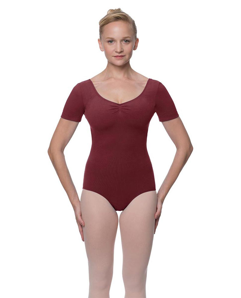 Short Sleeve Cotton Dance Leotard Mckenzie BUR