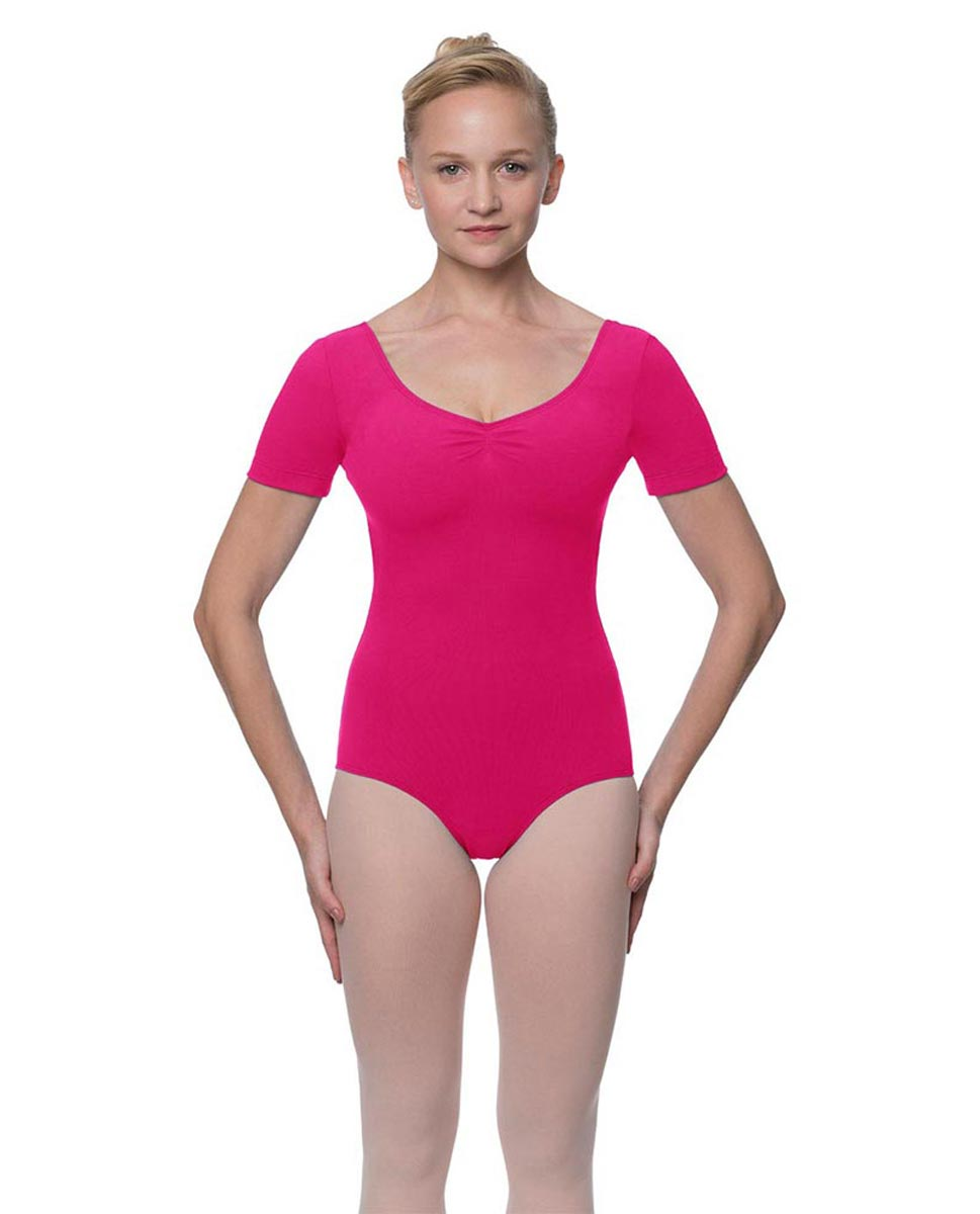 Short Sleeve Cotton Dance Leotard Mckenzie FUC