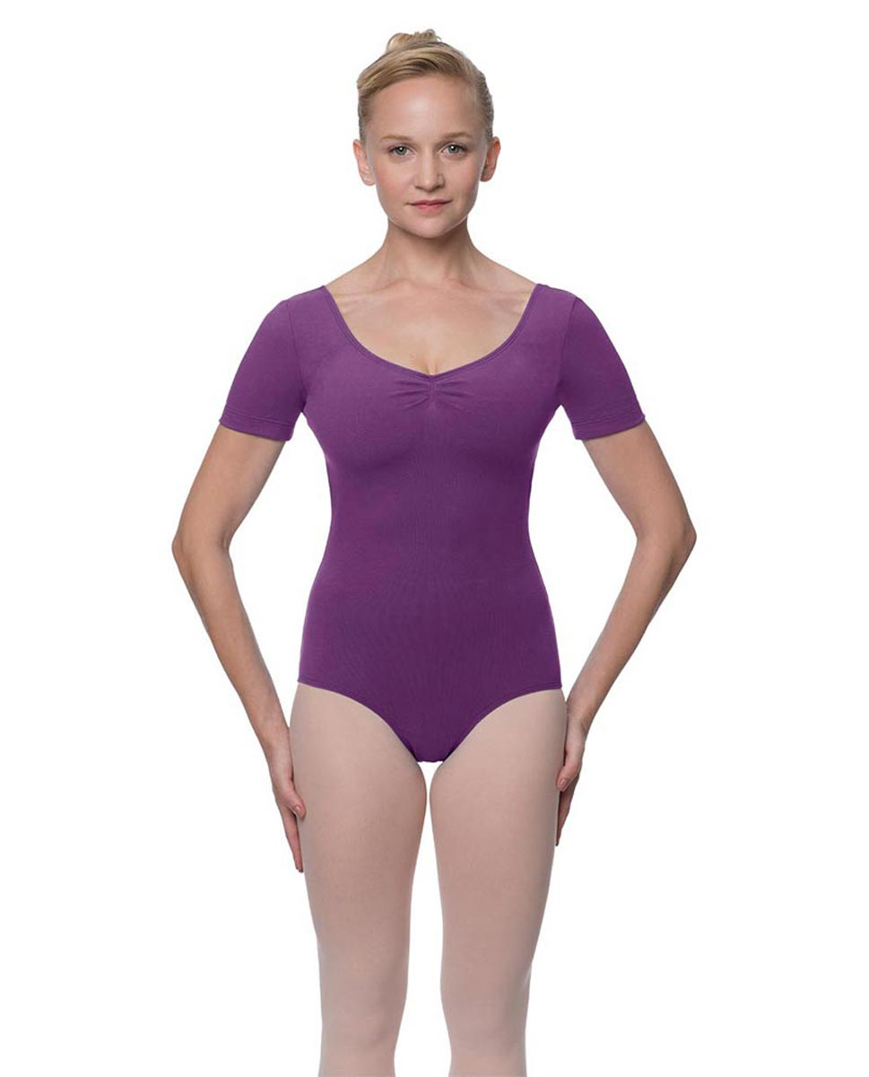 Short Sleeve Cotton Dance Leotard Mckenzie GRAP