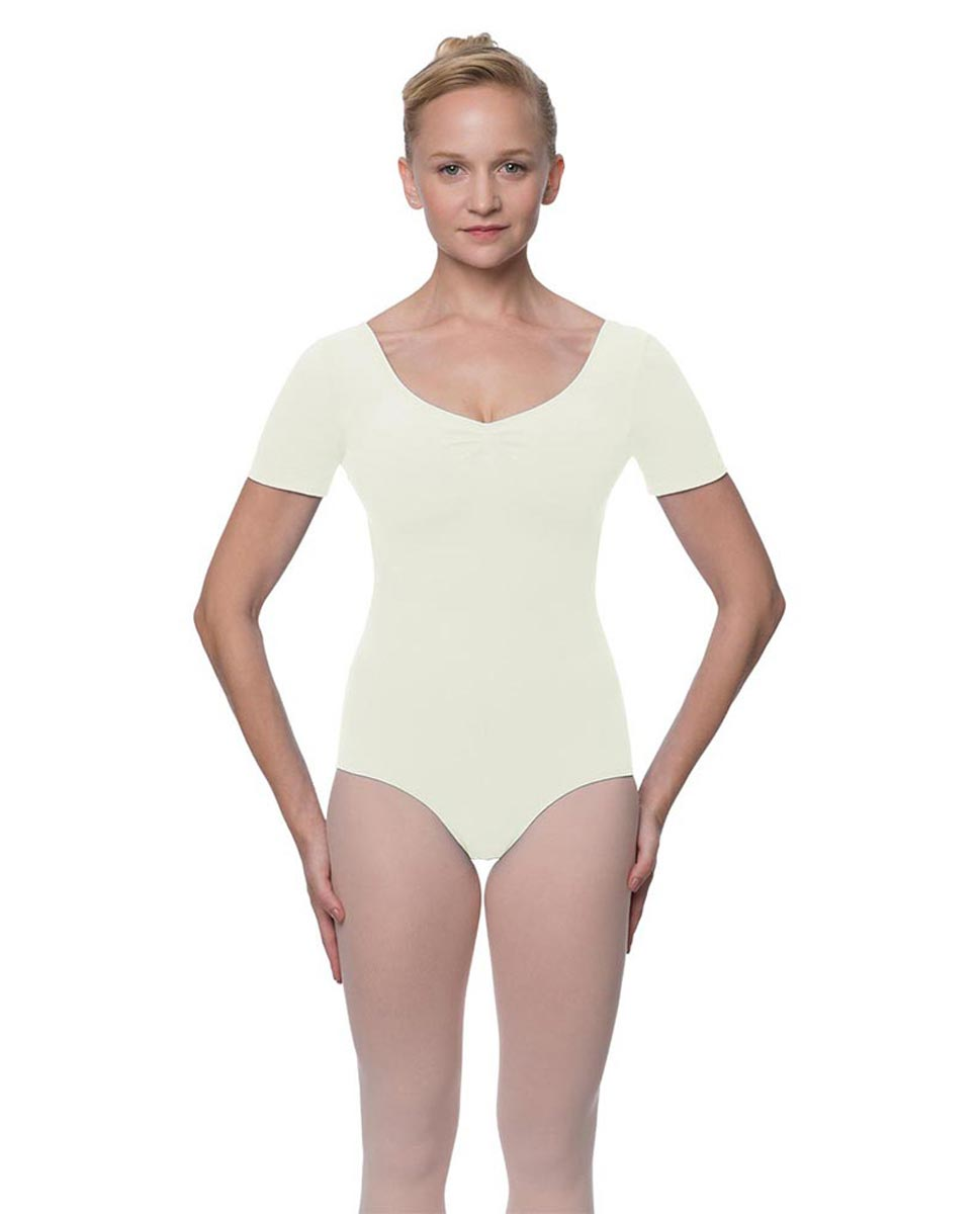 Short Sleeve Cotton Dance Leotard Mckenzie IVOR