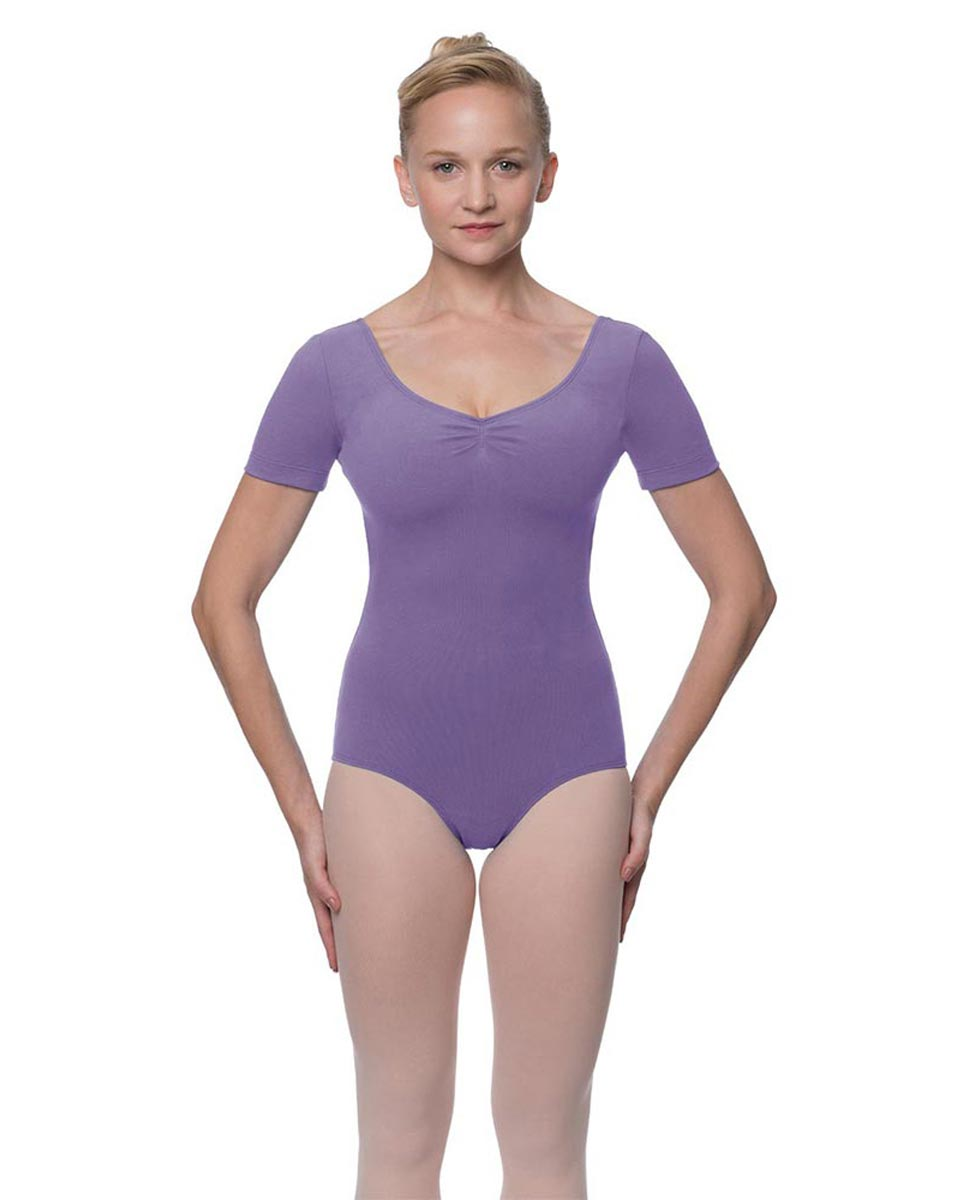 Short Sleeve Cotton Dance Leotard Mckenzie LAV