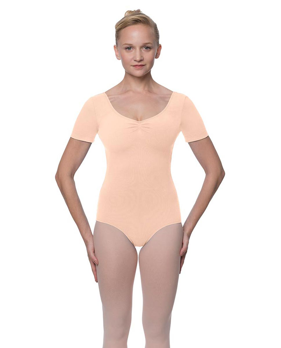 Short Sleeve Cotton Dance Leotard Mckenzie LNUD
