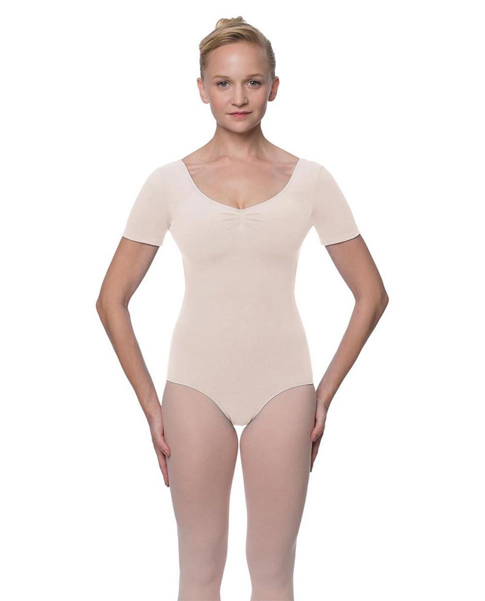 Short Sleeve Cotton Dance Leotard Mckenzie LPNK