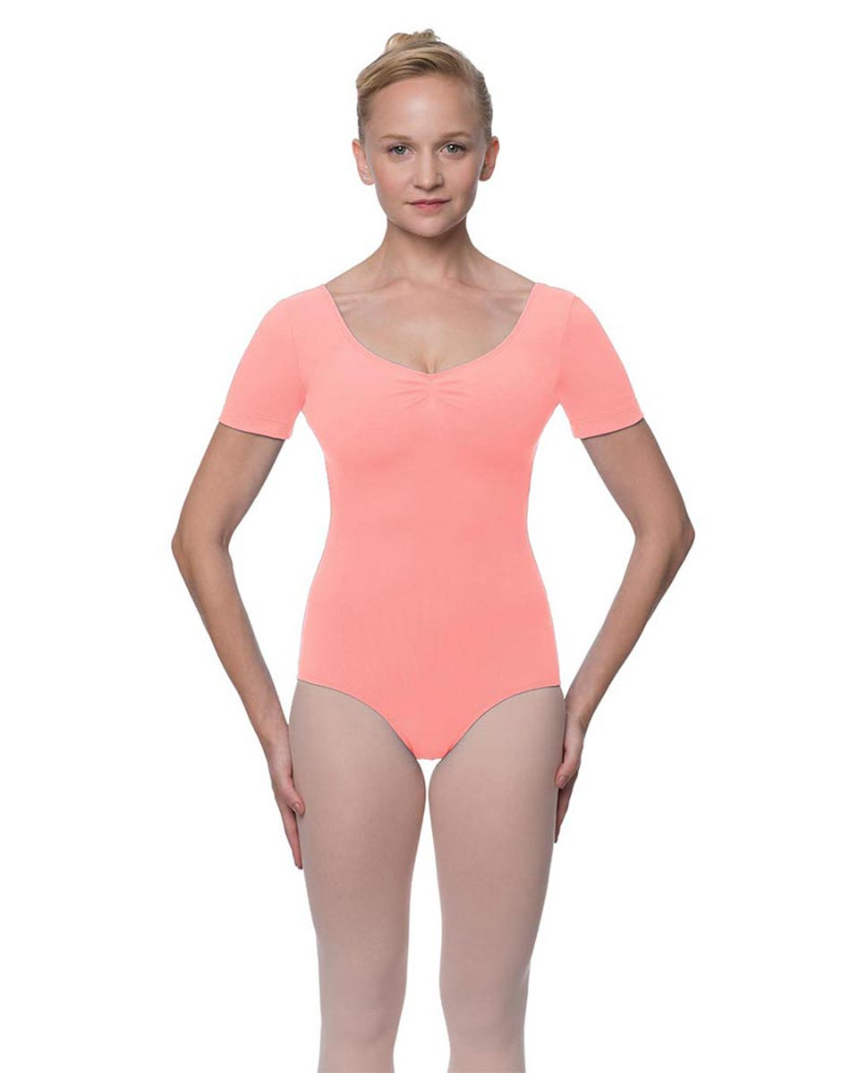 Short Sleeve Cotton Dance Leotard Mckenzie PEAC