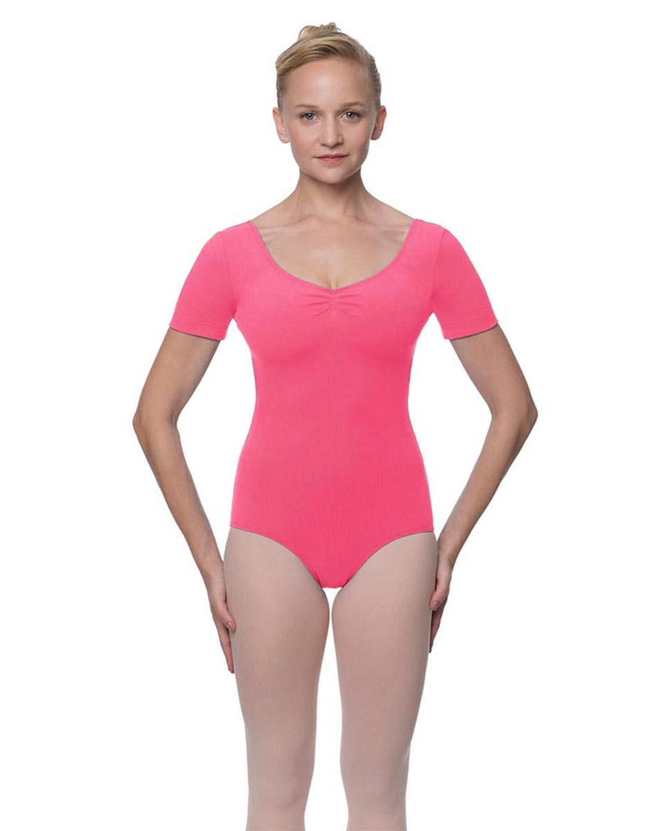 Short Sleeve Cotton Dance Leotard Mckenzie ROS