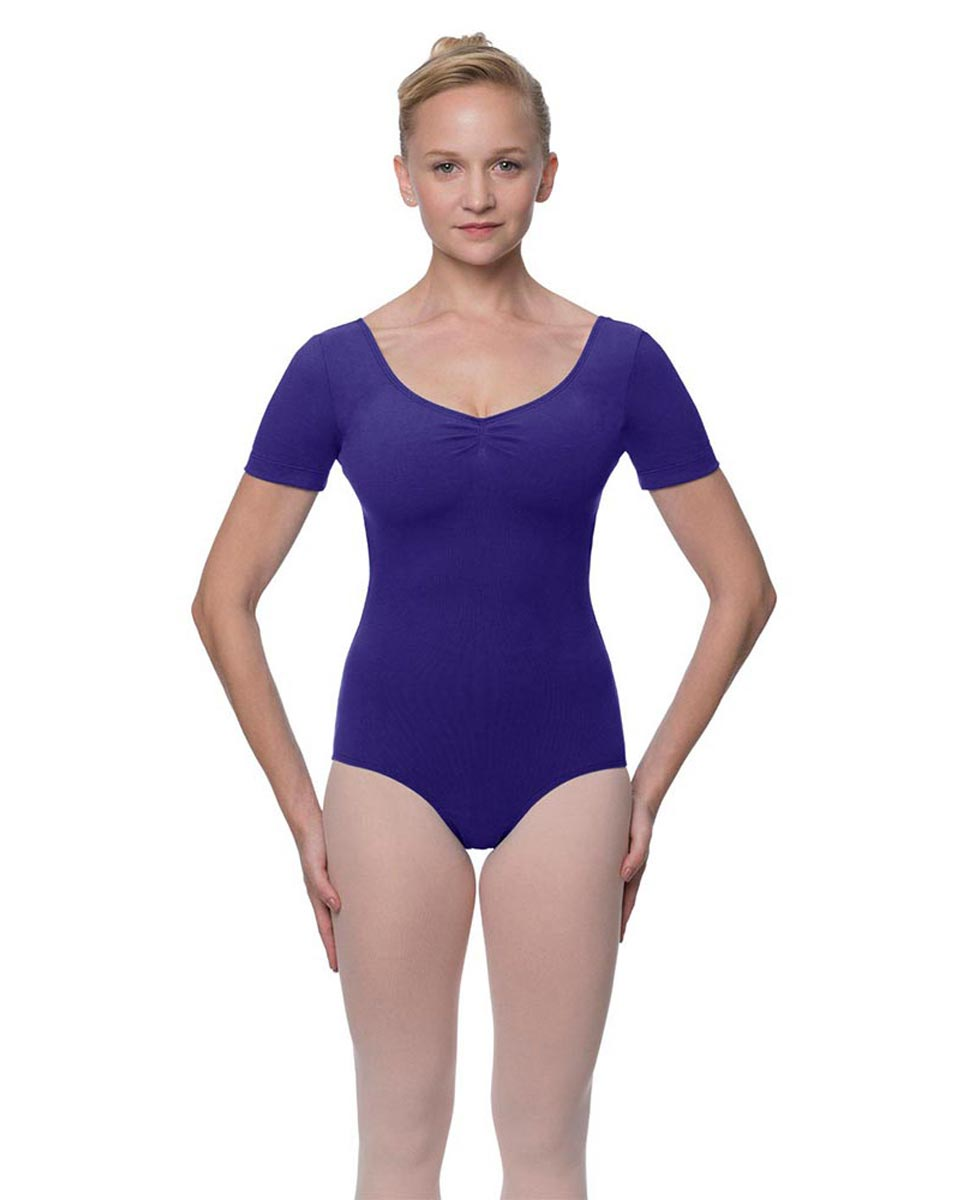 Short Sleeve Cotton Dance Leotard Mckenzie ROY