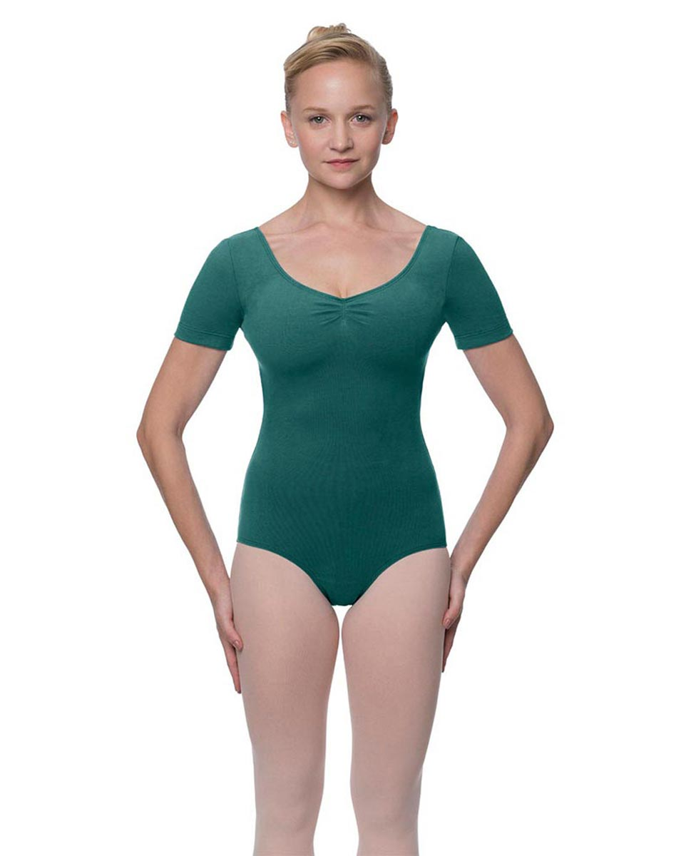 Short Sleeve Cotton Dance Leotard Mckenzie TEA