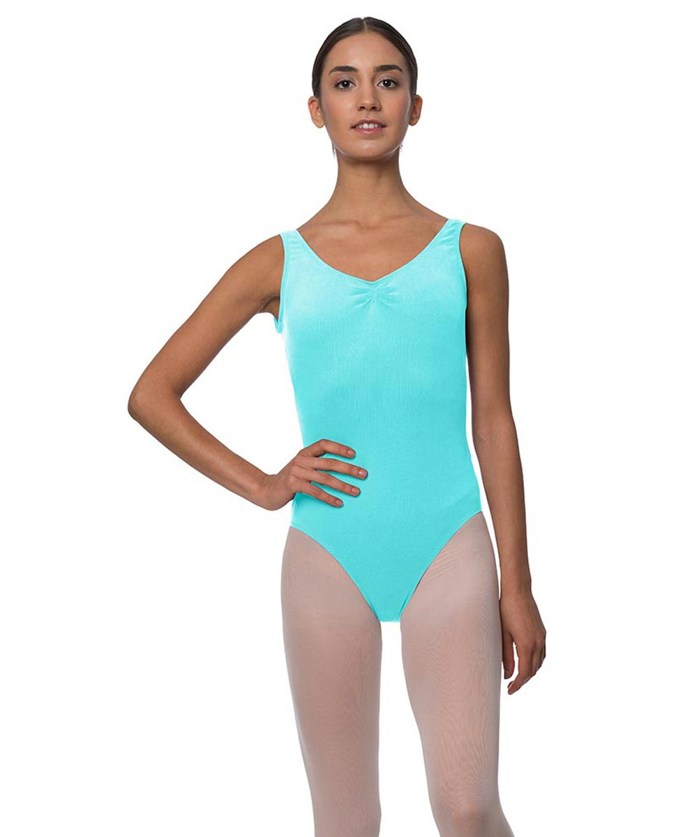 Tank Gathered Cotton Dance Leotard Luna AQU