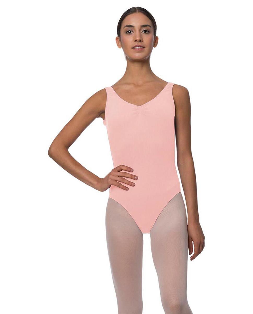 Tank Gathered Cotton Dance Leotard Luna BPINK
