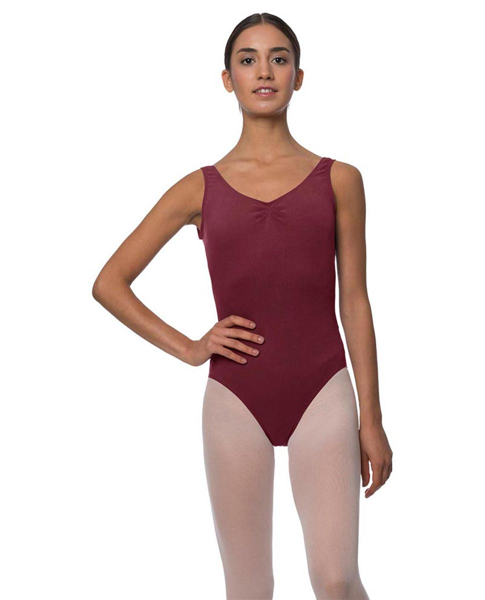 Tank Gathered Cotton Dance Leotard Luna BUR