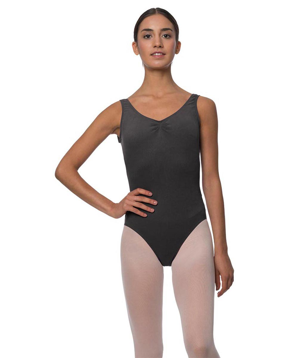 Tank Gathered Cotton Dance Leotard Luna DGRE