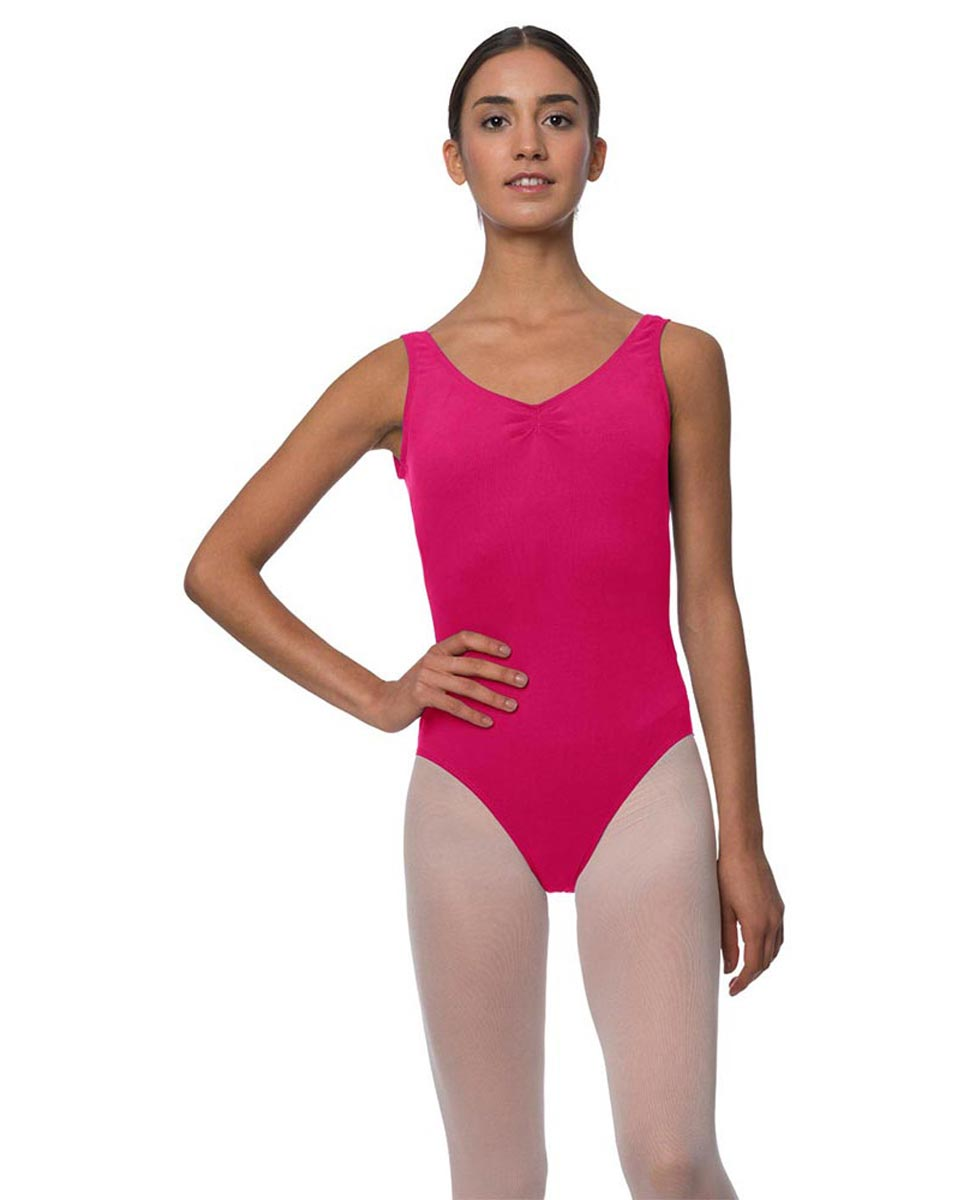 Tank Gathered Cotton Dance Leotard Luna FUC