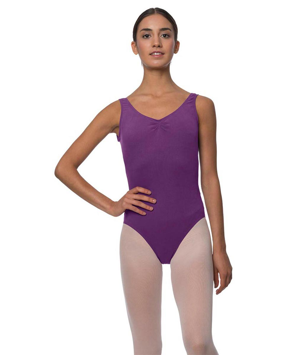 Tank Gathered Cotton Dance Leotard Luna GRAP