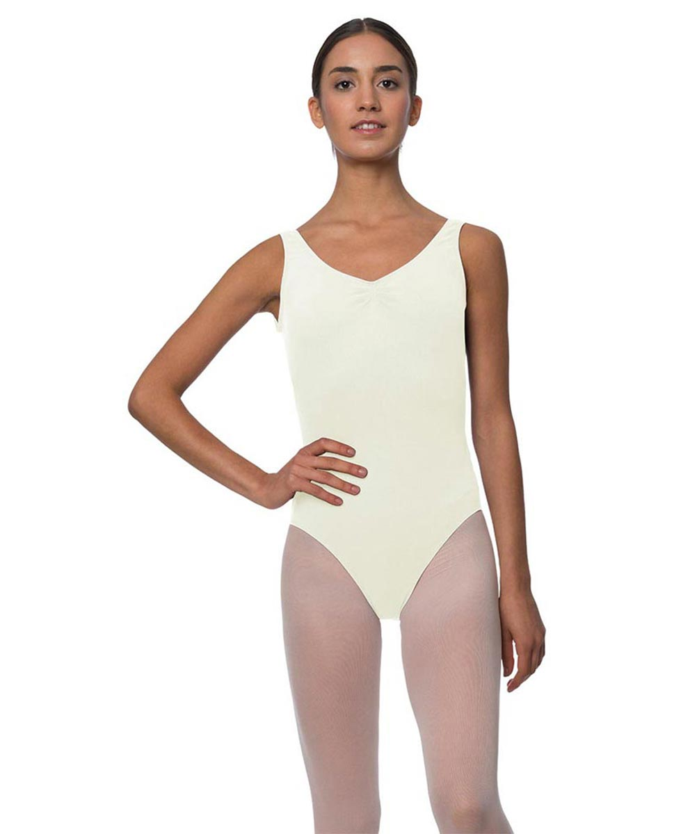 Tank Gathered Cotton Dance Leotard Luna IVOR