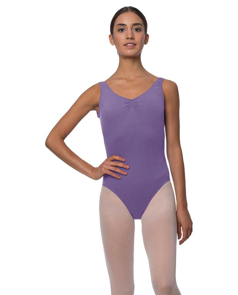 Tank Gathered Cotton Dance Leotard Luna LAV