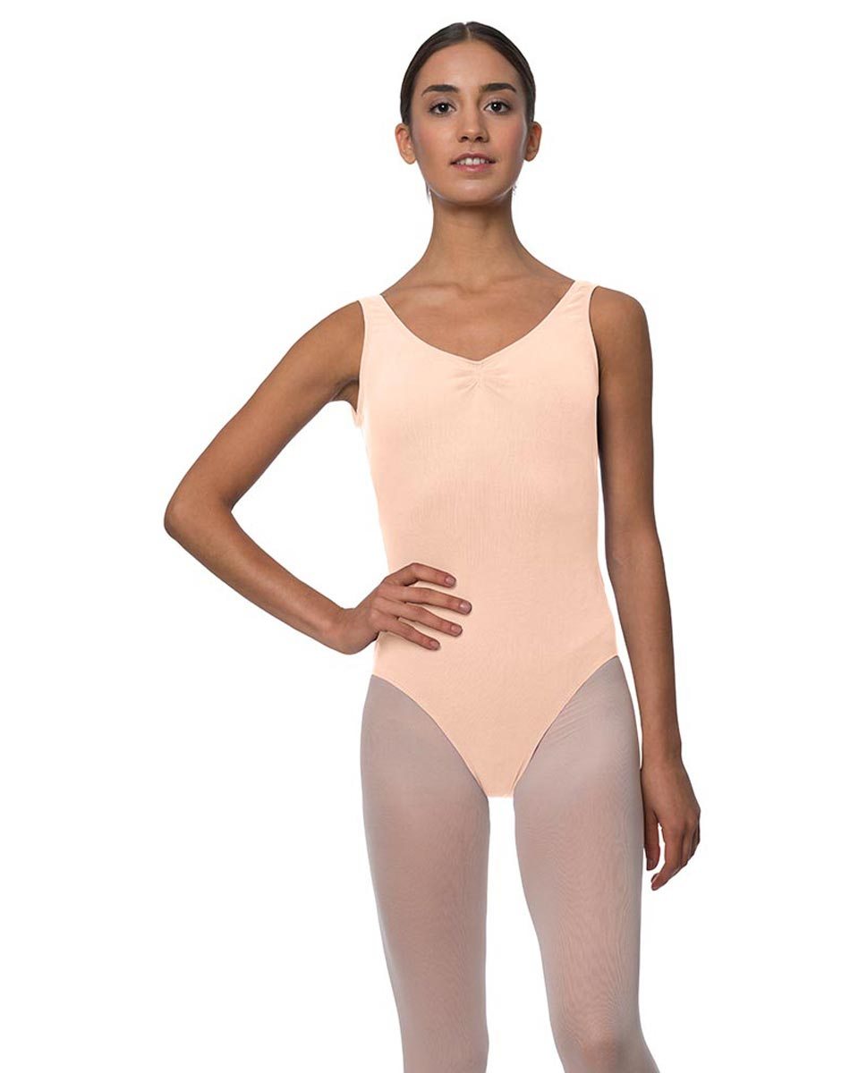 Tank Gathered Cotton Dance Leotard Luna LNUD
