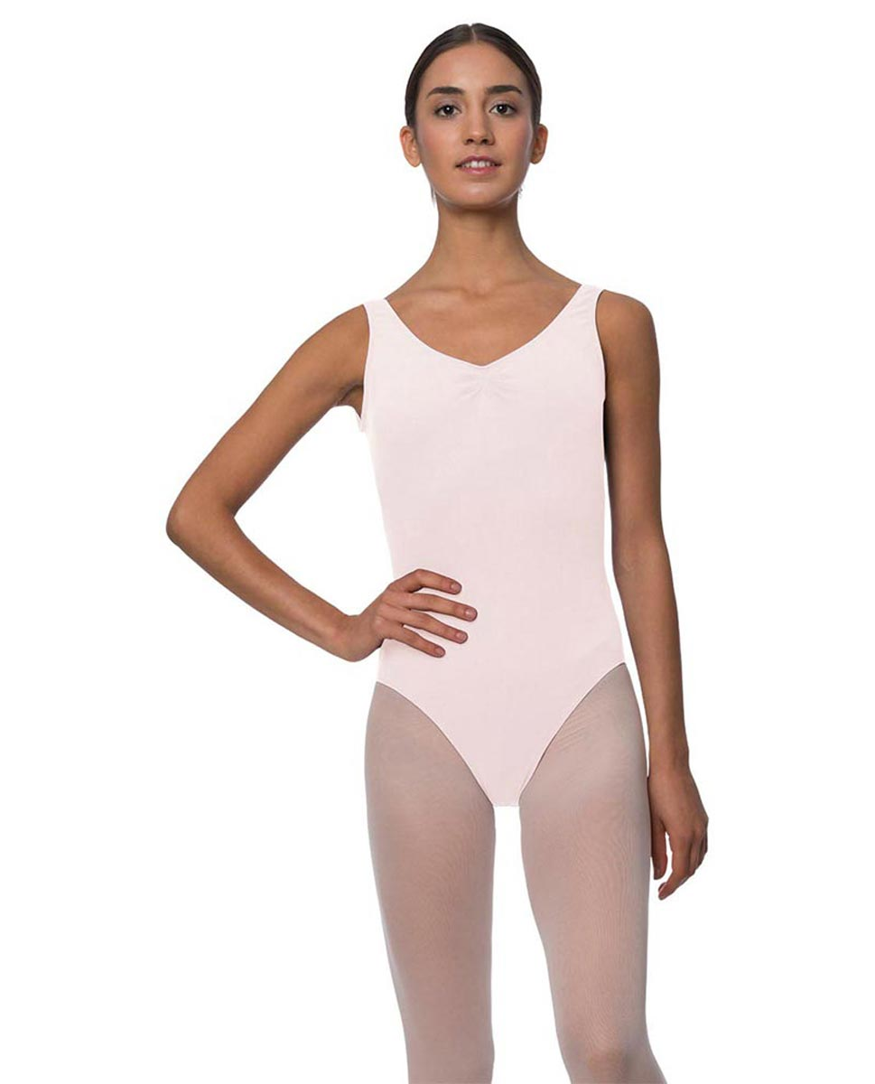 Tank Gathered Cotton Dance Leotard Luna LPNK