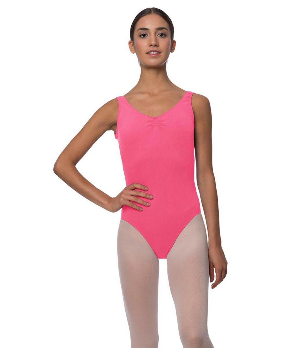 Tank Gathered Cotton Dance Leotard Luna ROS
