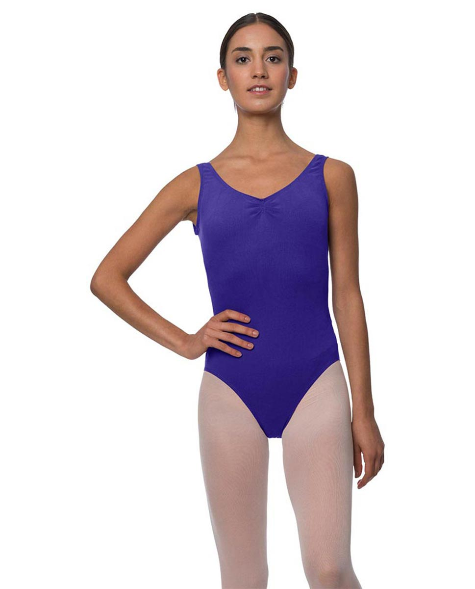 Tank Gathered Cotton Dance Leotard Luna ROY