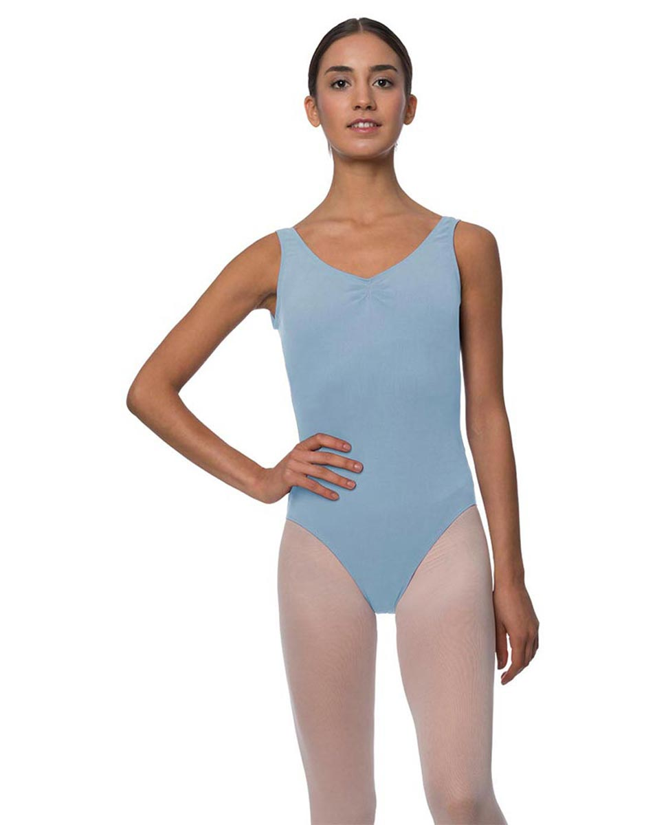 Tank Gathered Cotton Dance Leotard Luna SKY