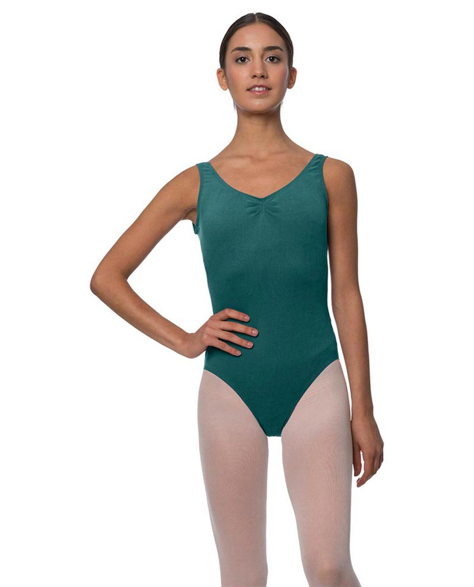 Tank Gathered Cotton Dance Leotard Luna TEA