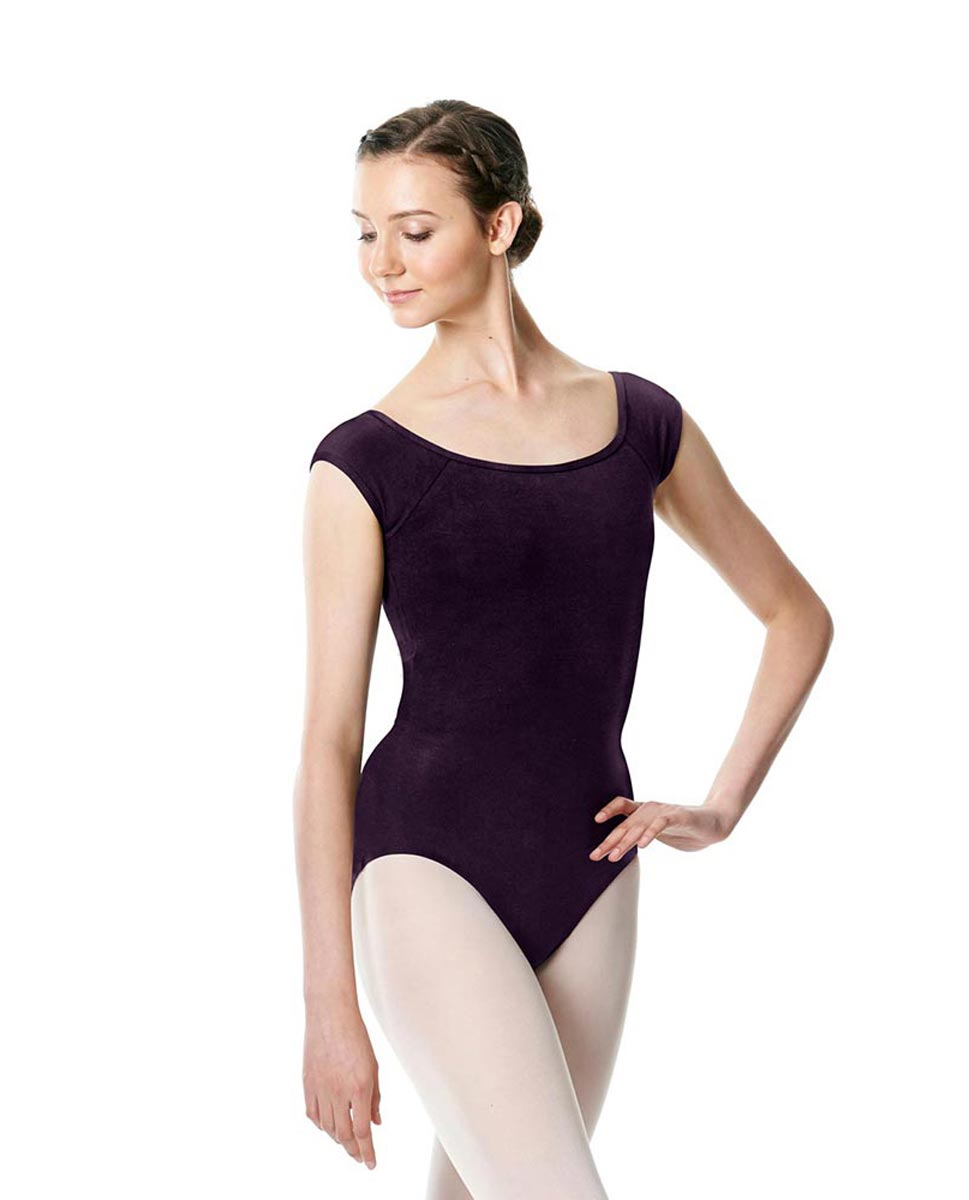 Brushed cotton Cap Sleeve Dance Leotard Dinah AUB