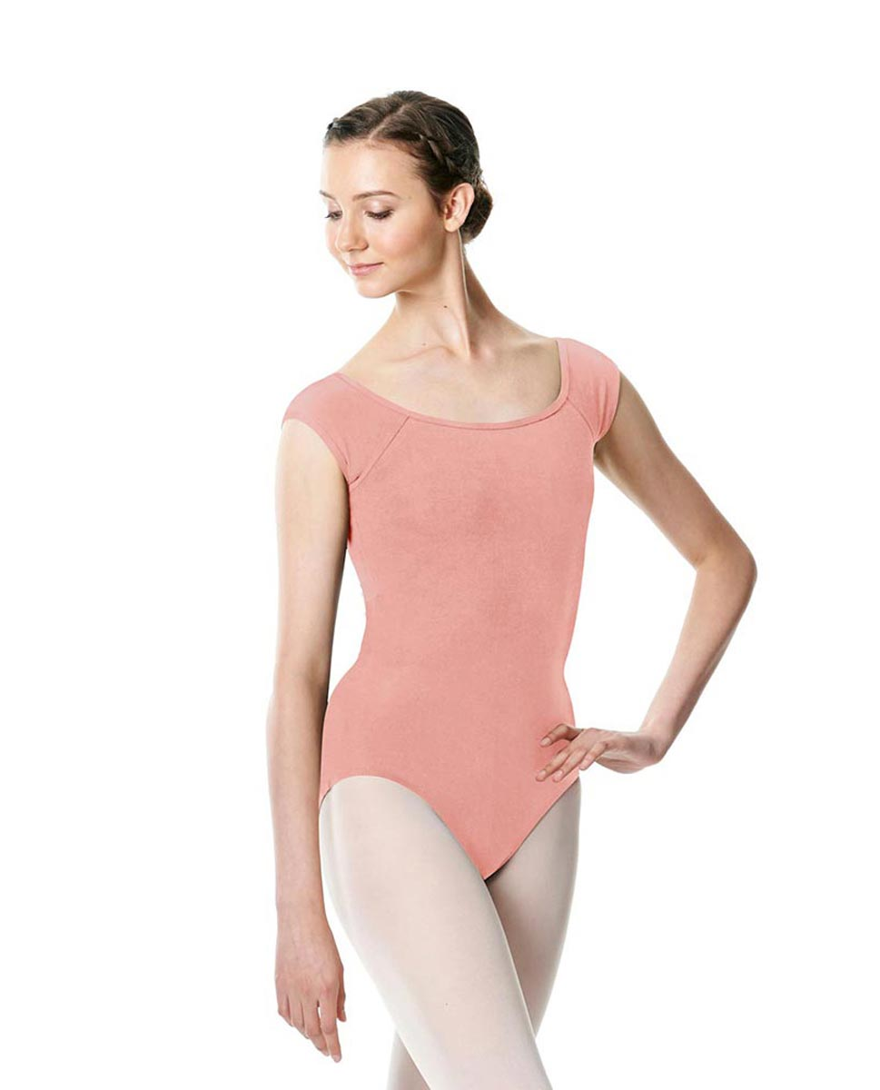 Brushed cotton Cap Sleeve Dance Leotard Dinah BPINK