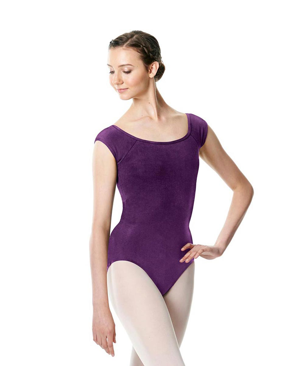 Brushed cotton Cap Sleeve Dance Leotard Dinah GRAP