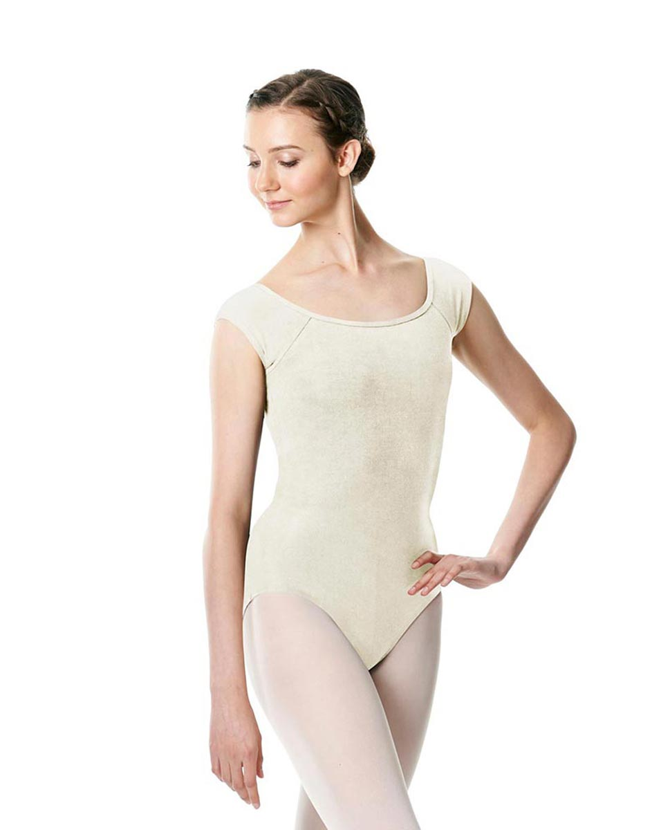 Brushed cotton Cap Sleeve Dance Leotard Dinah IVOR