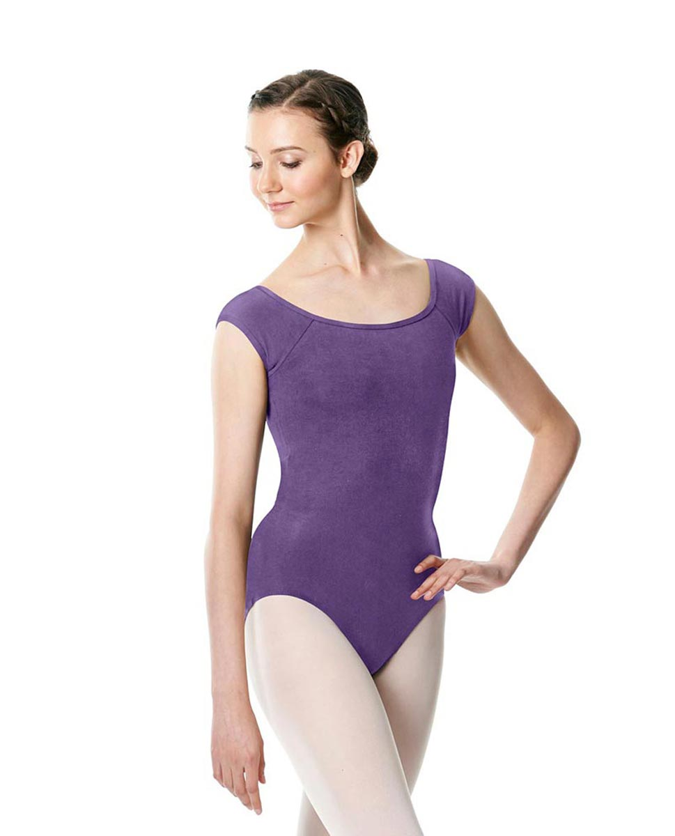 Brushed cotton Cap Sleeve Dance Leotard Dinah LAV