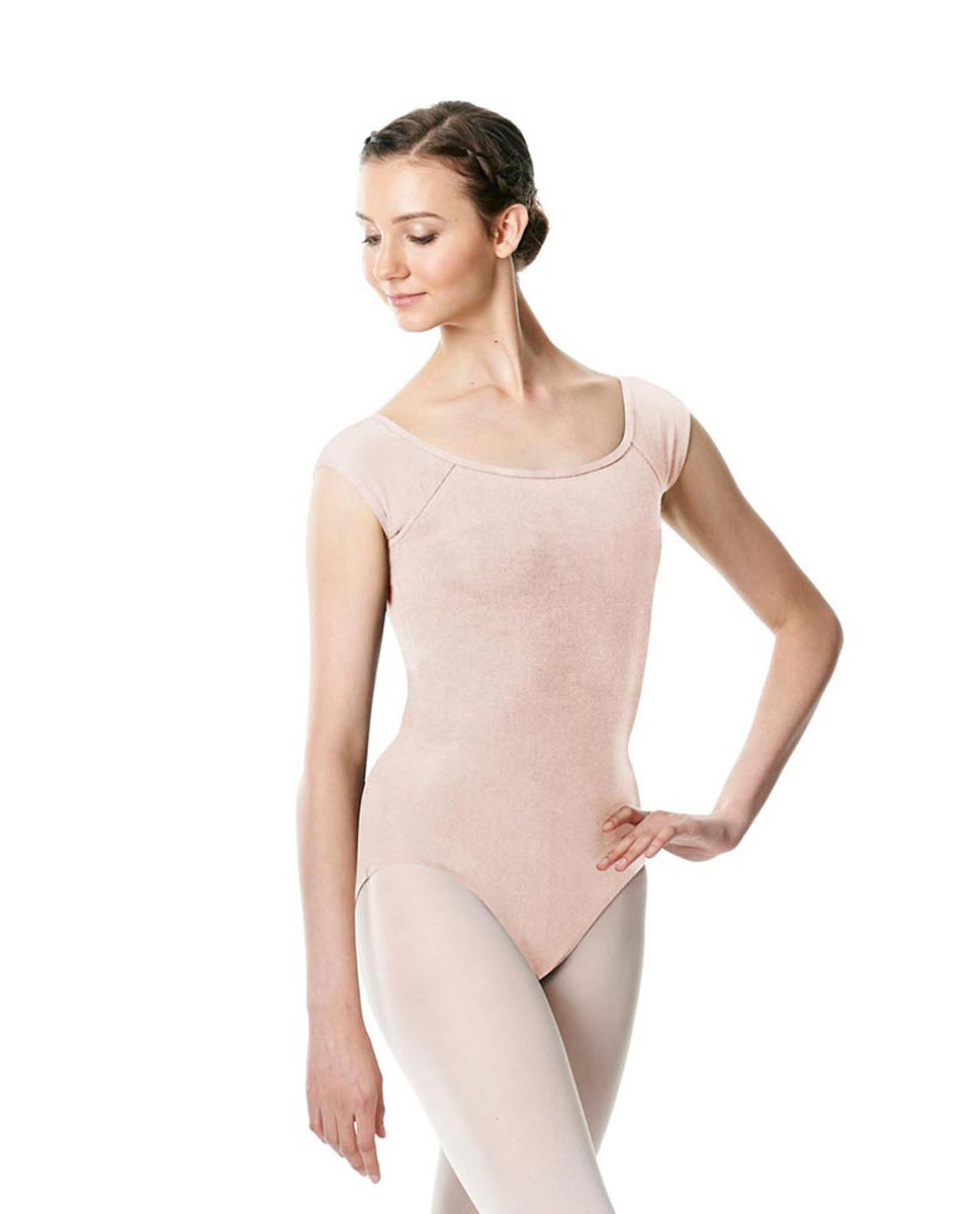 Brushed cotton Cap Sleeve Dance Leotard Dinah LPNK
